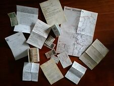 1:6 scale WWII war military documents map letters reports action game diorama