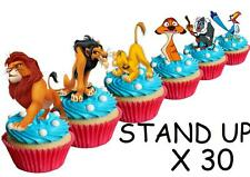 30 Lion King STAND UP Cupcake Cake Topper Edible Paper Decorations edible