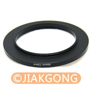 55mm-72mm 55-72 mm Step Up Filter Ring Stepping Adapter