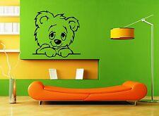 Wall Stickers Vinyl Decal Cute Animal Teddy Bear for Kids Room Nursery (ig1097)