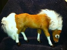 Dunhung Realistic Sheep Fur Grazing Horse Pony Figurine BROWN Collectible HS903