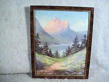 Dino Massaroni Framed Print, Mountain Landscape 1990 Signed
