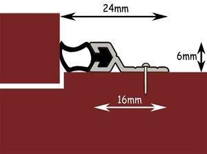 Metal Window & Door Surround Draught Excluder Kit - Draft Excluding Rubber Strip