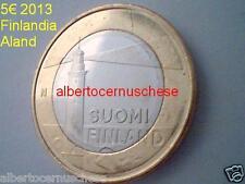 Aland 5 euro 2013 fdc FINLANDIA Finland FINLANDE Finnland suomi faro Sälskär