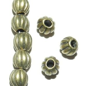 MB913 Antiqued Bronze 9mm Corrugated Round Metal Alloy Beads 25pc