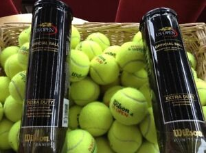 2 Tubes 8 Wilson US Open Used Once Tennis Balls For Dogs Excellent Condition