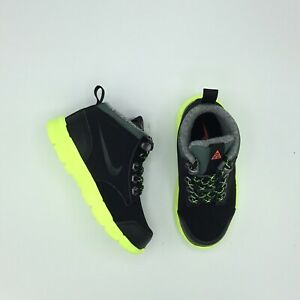SALE NIKE DF JACK BOOT TDV 535923 002 BLACK GREEN SIZE 2C - 10C NEW TODDLER