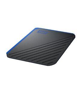 WD 500GB My Passport Go SSD Cobalt Portable External Storage, USB 3.0