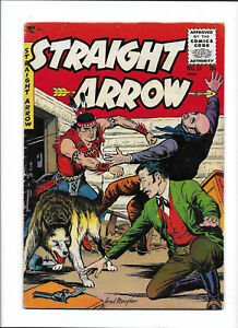 """STRAIGHT ARROW #51 [1955 VG-FN] """"THE MYSTERY OF THE FRIGHTENED BOY!"""""""