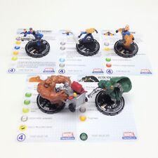 Heroclix Secret Invasion set COMPLETE 7-figure Fantastic Four LE set w/cards!