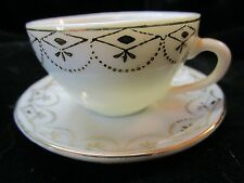 Vintage Miniature Occupied Japan Pico Miniature Porcelain Tea Cup Gold Trim