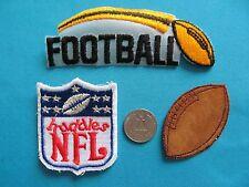 3 VINTAGE 70S NFL NATIONAL FOOTBALL LEAGUE HUDDLES PATCH CREST EMBLEM