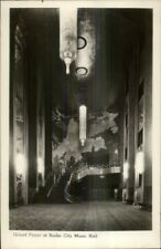 New York City Radio City Music Hall Foyer Real Photo Postcard