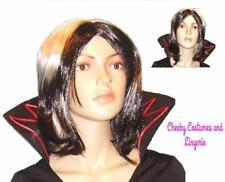 Wig Black and White Halloween Devil Vampire Mistress