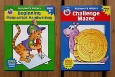 2-For-1 Beginning Handwriting & Challenging Mazes Activity Books K-1