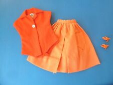 VINTAGE BARBIE RED BODY BLOUSE, ORANGE SKIRT & OPEN TOE FROM 1960'S