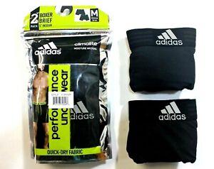 Men adidas Sport Performance (Black - Black) Boxer Brief (2- Pack) Underwear