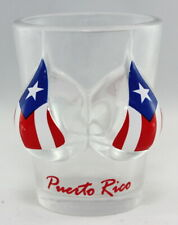 Puerto Rico Flag Bikini Bust 3D Shot Glass
