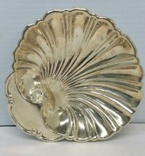 Vintage Sterling Silver W Candy Bowl Dish Clam Shape 76.7 grams
