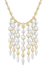 Lucky Brand Two-Tone Imitation Pearl Statement Necklace