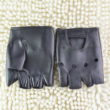 Men Women Cool Punk Soft Leather Fingerless Driving Motorbicycle Biker Gloves