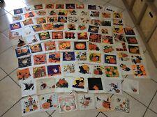 Lot de 91 serviettes en papier chat Halloween vintage cat napkins