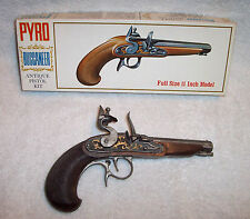 PYRO BUCCANEER ANTIQUE PISTOL KIT-1960`s-ASSEMBLED PAINTED ANTIQUED-W/BOX & MORE