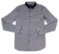 Armani Exchange Mens Shirt Gray Size 2XL Button Down Slim Fit Dobby $95 043