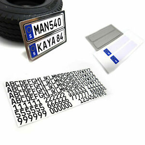 For 1/14 Tamiya Scania Man Tractor Euro Truck License Plate Letters Decoration