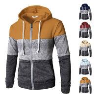 Warm Hooded Casual Mens Sweatshirt Jacket Winter Hoodie Coat Outwear Sweater