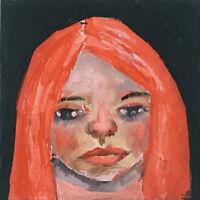 Mini Oil Art Little Girl Portrait Painting Dark Days Katie Jeanne Wood