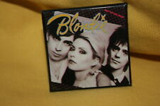 """Blondie Square 2"""" Pinback Button Pin Debbie Harry Eat to the Beat"""