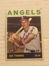 1964 Topps 265 Lee Thomas Autographed Auto Signed Card