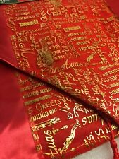 Organza Christmas Table Runner/Satin edge ~  Christmas Cheer ~ 160cm x 35cm