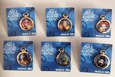ALICE THROUGH THE LOOKING GLASS - Original Promo Movie Pin Complete Set of 6 AMC