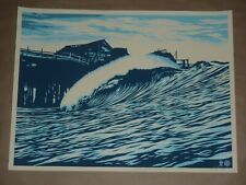 Pop Wave Blue Shepard Fairey Obey Giant signed poster urban art print Jaws