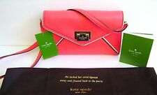 Kate Spade Natalie Wesley Place Pebble Leather Clutch Crossbody W/ Dust Bag