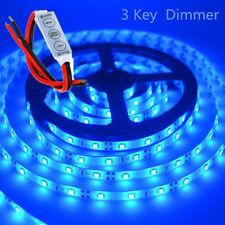 Waterproof Blue LED Strip Light 12V 5M 2835 SMD 300 Leds Lights + Dimmer