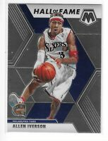 2019-20 PRIZM-MOSAIC ALLEN IVERSON HALL OF FAME #287 PHILADELPHIA 76'ERS