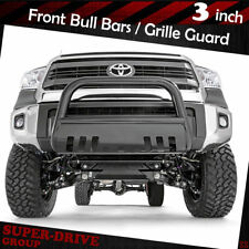 Black Front Bumper Bull Bar Grille Guards Skid Plate For 2007-2018 TOYOTA TUNDRA
