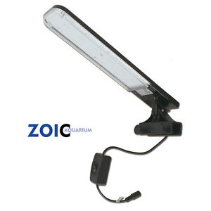 Zoic 18 LED White/Blue Aquarium Fish Tank Lighting Clip Light Lamp For 30-60CM