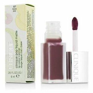 BRAND NEW Clinique Pop Liquid Matte Lip Colour +Primer 6ml 07 Boom Pop FULL SIZE