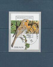 Guinée république  bloc  faune oiseaux  1995  num : 110 B  oblitéré