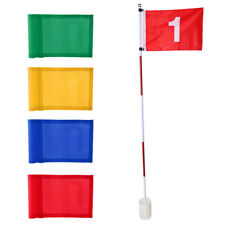 Practice Hole Pole Putting Green Training No.1 Flag and 4pcs Solid Flags