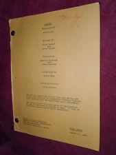 WEBSTER, Original Working Script, Knock-Knock, 1984 - Script Supervisor