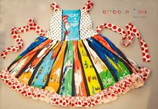 New Dr Seuss Boutique Dress sz 3 4 5 6 7 8 polkadot girls toddler patches spring