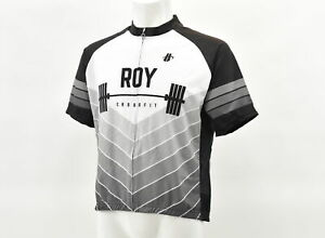 Hincapie Roy Crossfit Men's XL Club Cut Short Sleeve Jersey White/Black CLOSEOUT