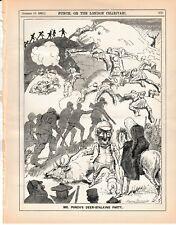 1892 Punch Cartoon Deer Stalking Party
