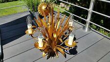 Deckenleuchte Antik Deckenlampe Florentiner Stil Gold Antik Blütenblätter-Design