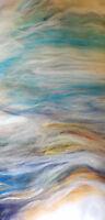 Beach Hut Rainbow Sparkle Carded Art Batt 10-100g Soft Wool & Silk Felt or Spin